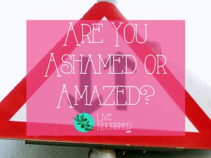 Are You Ashamed or Amazed?
