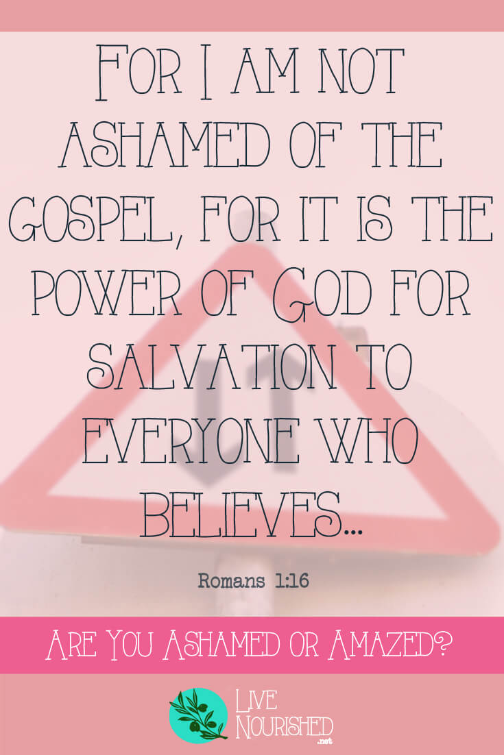"For I am not ashamed of the gospel, for it is the power of God for salvation to everyone who believes... { Romans 1:16 } How does the word ""evangelism"" make you feel? See how your response will show whether you're ashamed or amazed by the gospel…"
