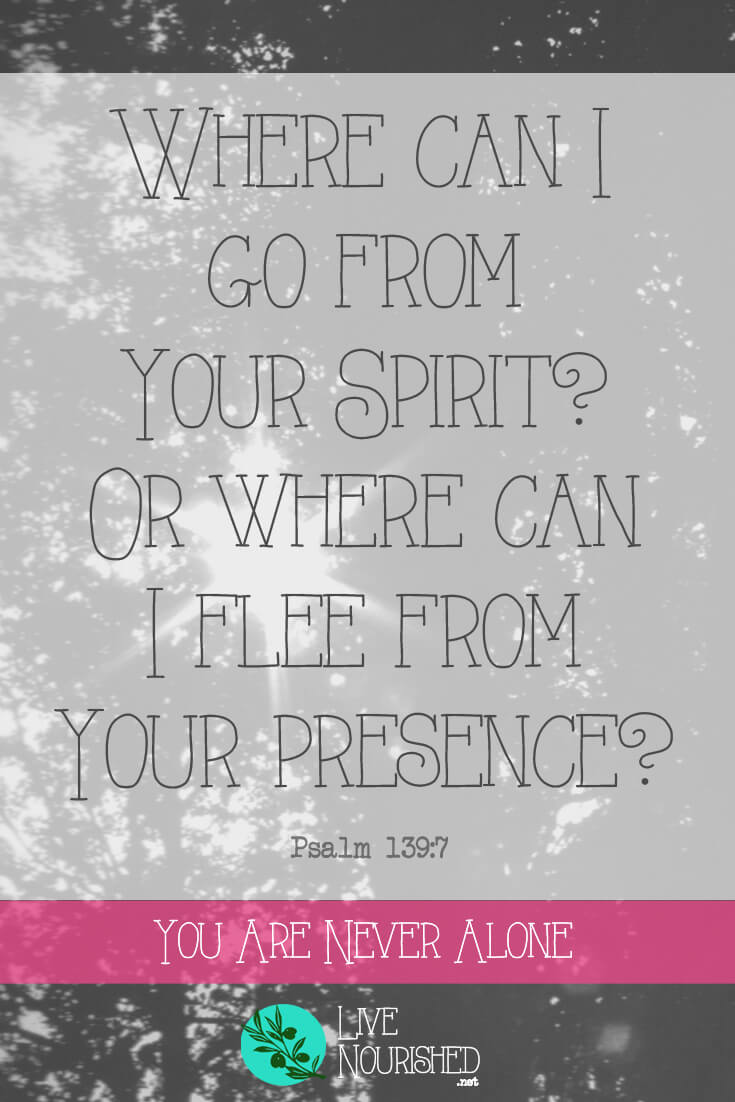 Where can I go from Your Spirit? Or where can I flee from Your presence? { Psalm 139:7 } Are you struggling with loneliness? Do you feel lonely even when you're with others? Find out why, and discover the truth that will set you free...