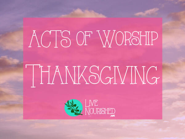 Want an easy to remember format for your quiet time? This series will show you the ACTS of worship... { Post 4 - Thanksgiving }