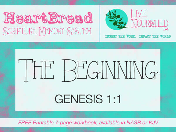 HeartBread: The Beginning { + free printable workbook }
