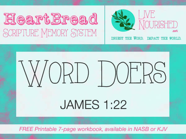 HeartBread: Word Doers { + free printable workbook }