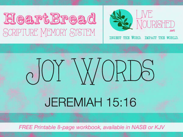 HeartBread: Joy Words { + free printable workbook }