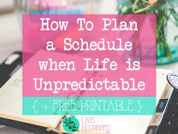 Do you struggle with time management but your circumstances don't allow for a set-in-stone schedule? Here's a stress-free approach to get you back on track.
