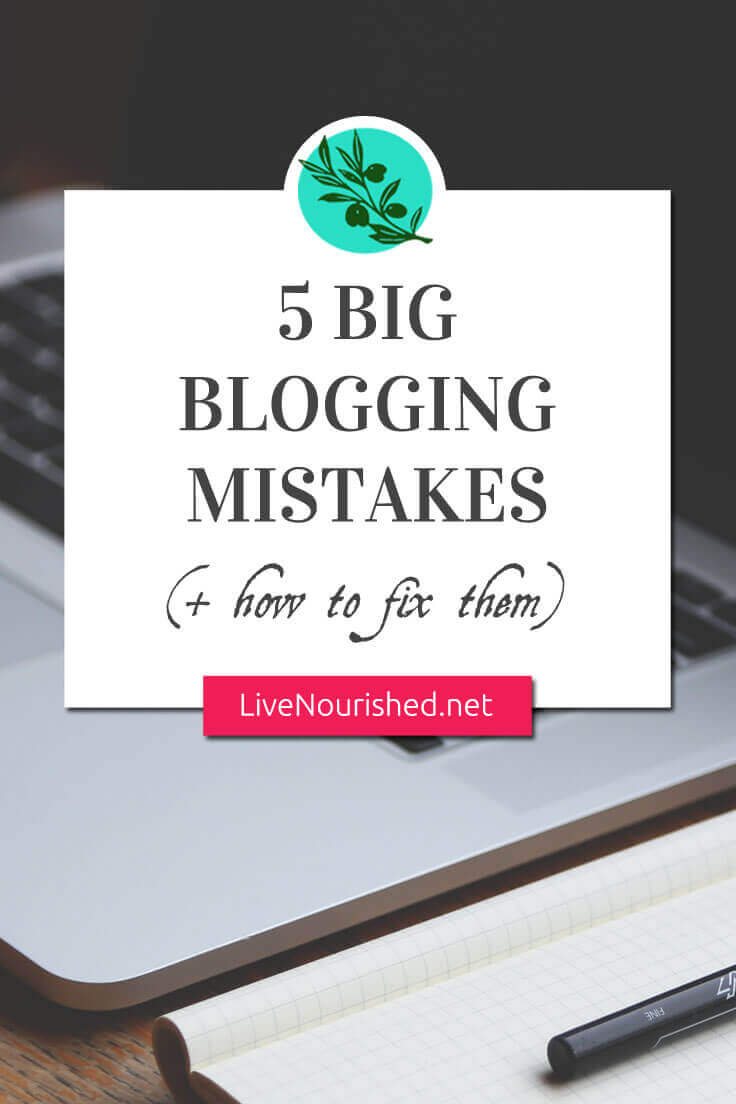 Does something with your blog need to change but you're not quite sure what, exactly? Make sure you're not making one of these 5 big blogging mistakes...