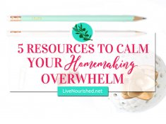 Homemaking can be hard, exhausting and even frustrating. But, there's hope! Calm can be restored by reducing the overwhelm in these 5 key areas...
