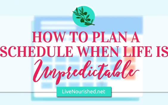How To Plan a Schedule When Life Is Unpredictable {+ free printable}